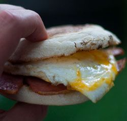 taylor pork roll and egg on an english muffin tailgate recipe