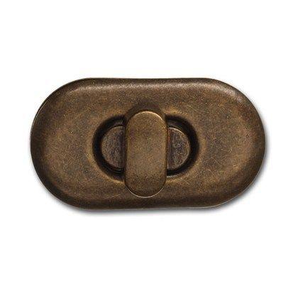 Vridlås av metall. Finns i flera färger. Storlek 37x20 mm.