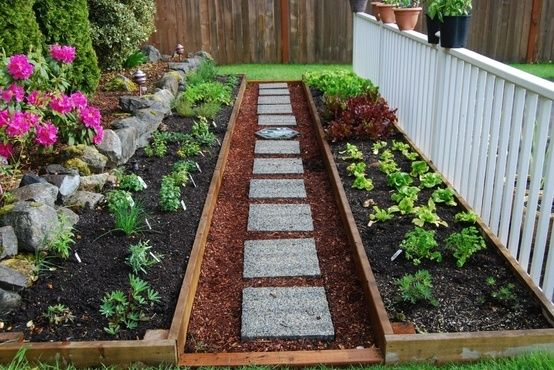 Long garden boxes-- I would love this idea along the back side of our yard