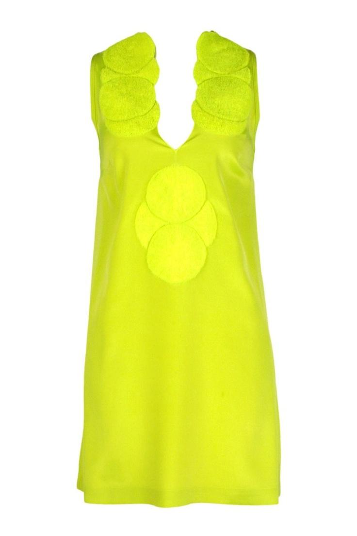 Circle Dress in Toxic YellowFabulous Things, Dresses Everywhere, Colors Es, The Colors, Circles Dresses, Criar Novo, Beautiful Dresses 3, De Fashion, Toxic Yellow