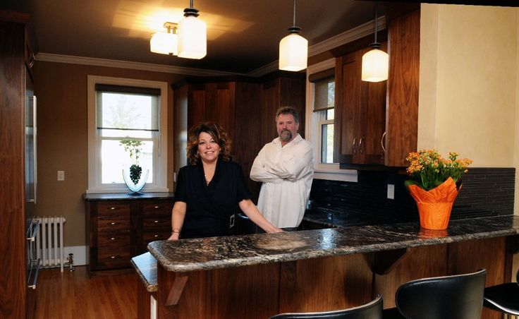 Bill's kitchen with us in it, for Saskatoon Fine Lifestyles magazine