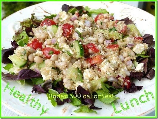 High protein quinoa salad. www.sinfullynutritious.blogspot ...