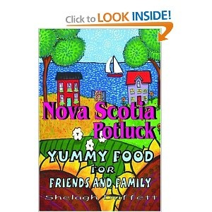 """This cookbook is a must have for those of you who love yummy, easy to prepare, and make ahead dishes that will have everyone wanting the recipe ! When putting together Nova Scotia Potluck, folk artist Shelagh Duffett asked her friends for their most popular potluck dishes, the ones that people always ask for and the ones that disappear the fastest. This book is the happy result, a valuable secret weapon to have on hand next time you are asked to """"bring something""""."""