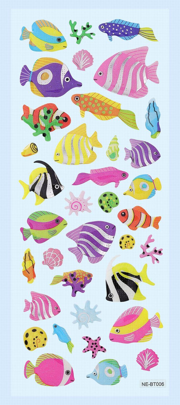 Creapop Glossy-Stickers Fische III