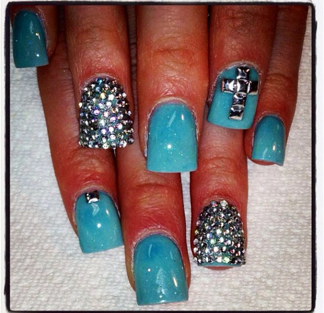 baby shower nail ideababy shower nails