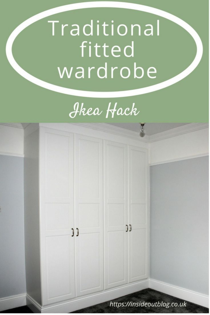 PIN IT BUTTON Traditional fitted wardrobe Ikea hack. Looking for fitted wardrobes for your bedroom then here is a IKEA hack for wardroebes