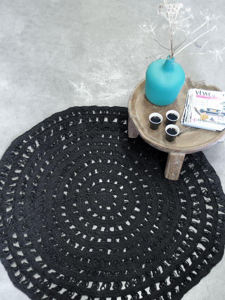 HKliving industrieel vintage kleur decoratie woonaccessoires woonkamer interieur wit zwart hout blauw salontafel