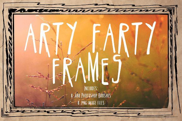 Arty Farty Frames & PS Brushes by Clikchic Designs on @creativemarket