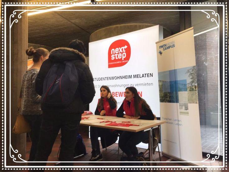 Beratungstage #RWTH #Aachen - Infostand : Next Step Hospitality.  Besucht uns am Infostand im Kármán-Auditorium der RWTH Aachen in der Eilfschornsteinstraße 15  Studying and living in Aachen? Visit our information point at Kármán-Auditorium Eilfschornsteinstraße 15  #germany #rwth #aachen #fhaachen #dorm #wohnungen #aken #wohungsbörse #deutschland #nrw #picoftheday #instapic #jodel #apartment #followme #abi2017 #elektrotechnik #medizin #campusmelaten #biologie #informatik #maschinenbau #wzl