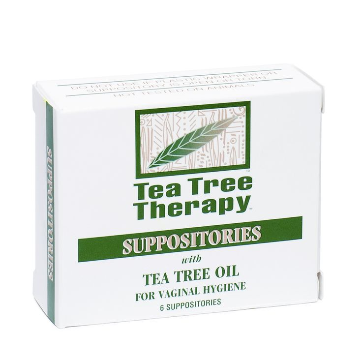 Tea Tree Therapy Suppositories with Tea Tree Oil provide vaginal hygiene. Each suppository contains approximately 200mg of Tea Tree Oil in a vegetable base.