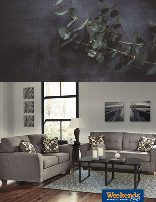 slate inspired ashley tibbee slate twill sofa at weekendsonly com
