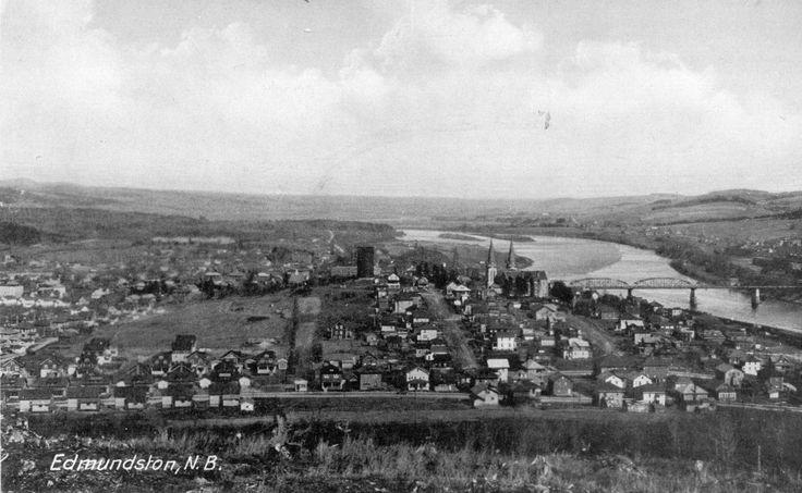Vue d'Edmundston vers 1940.