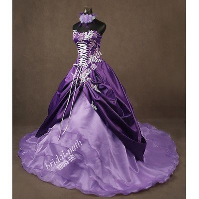 STUNNING U0026 UNIQUE PURPLE WEDDING DRESS WEDDING GOWN BRIDAL DRESS BALL GOWN  B1575