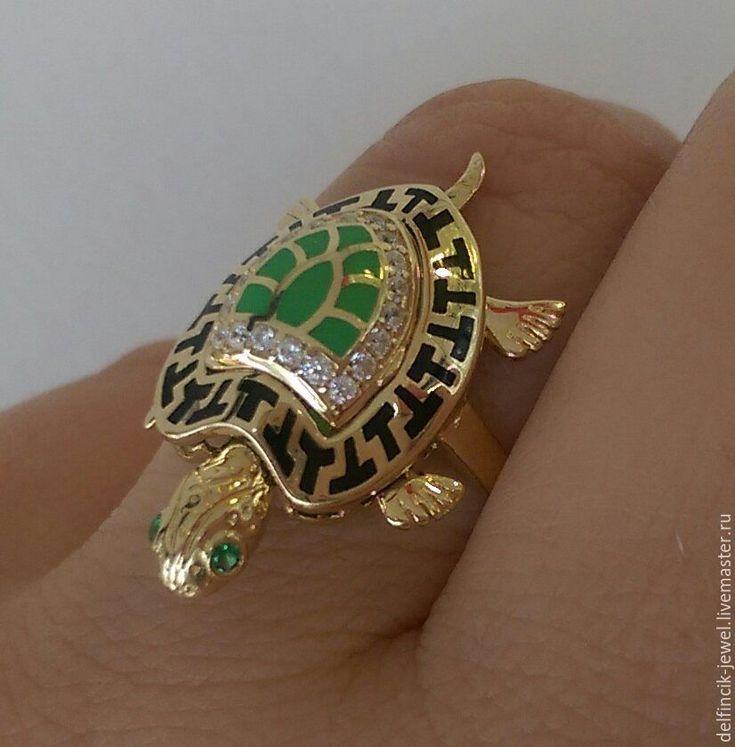 Купить Кольцо из золота Черепаха - золотой, кольцо черепаха, черепаха из золота, золотая черепаха