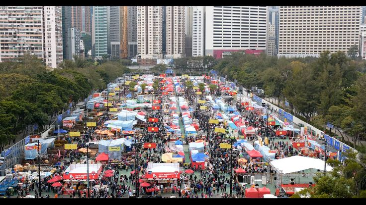 Traditional chinese lunar new year fair in Hong Kong