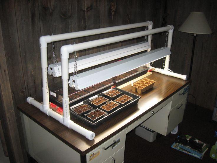 Diy Light Stand And Heat Mat Diy Grow Lights And Heat