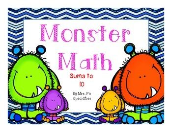 Monster+Math+Addition+Mats+are+the+perfect+tool+to+use+year+round+with+students.+The+mats+cover+addition+problems+with+sums+up+to+and+including+10.+Teachers+can+use+these+mats+to+teach+the+concept+of+adding+two+groups+together+in+a+visual+and+concrete+way.