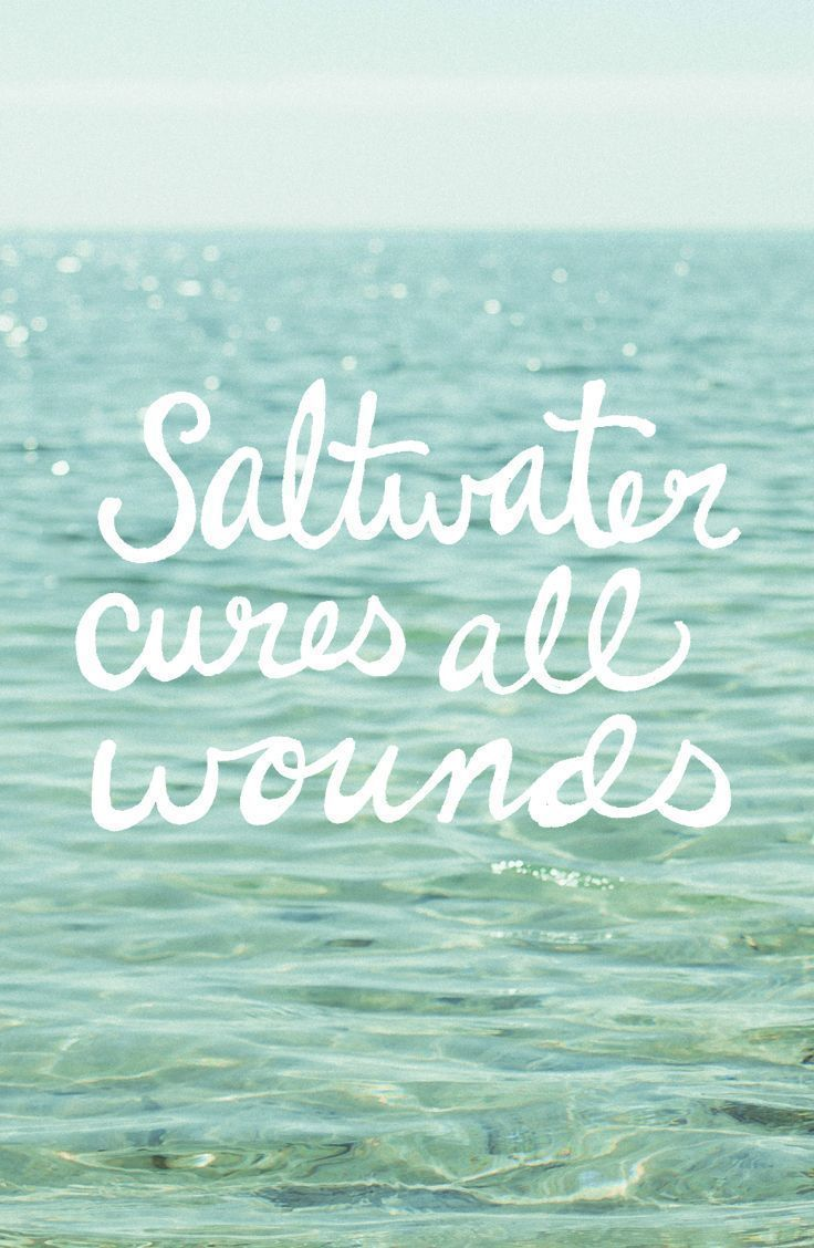 Saltwater cures all wounds #finfun #mermaids #mermaidtails www.finfunmermaid.com