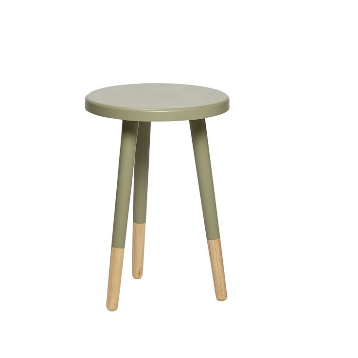 Green wood stool. Product number: 968002 - Designed by Hübsch
