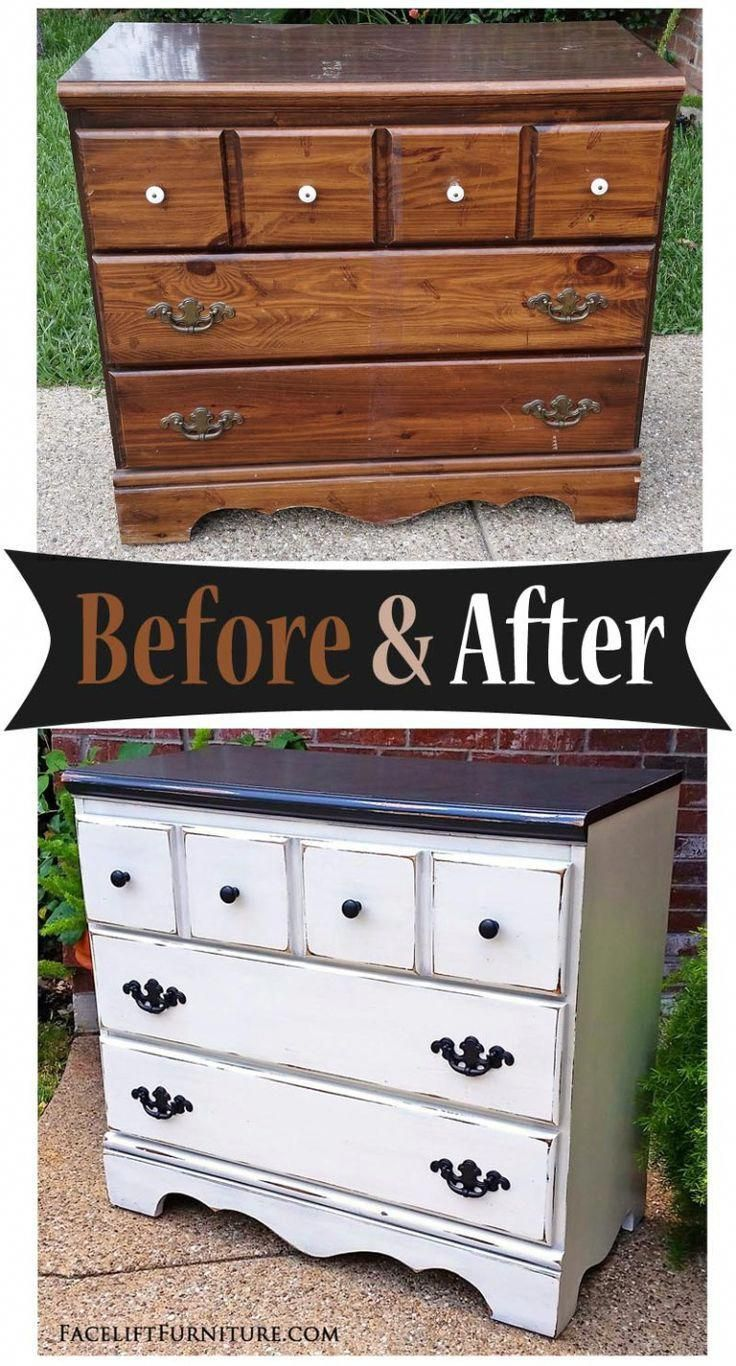 Inexpensivefurniturestores White Distressed Furniture Shabby Chic Dresser Painted Bedroom Furniture [ 1366 x 736 Pixel ]