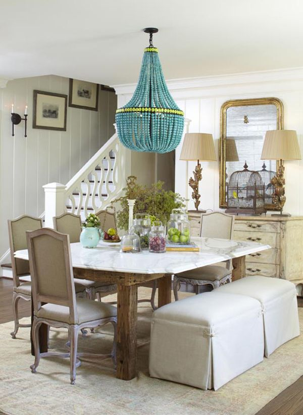 A traditional dining room gets an update from this bold chandelier. (http://www.hgtv.com/designers-portfolio/room/eclectic/dining-rooms/5418/index.html?soc=Pinterest)