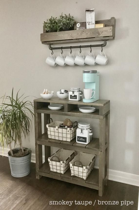 Coffee Bar Table With Storage 6