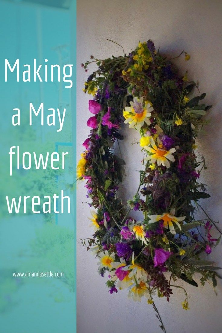 Making a May flower wreath