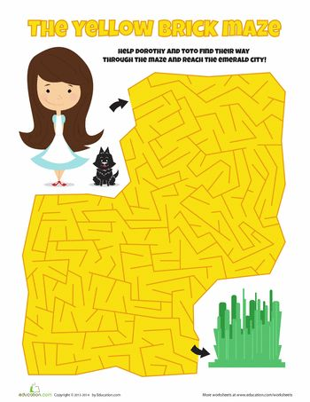 Worksheets: Wizard of Oz Game