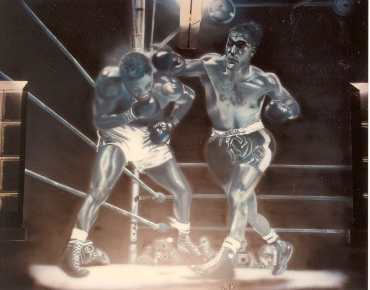 The Original Rocky. Airbrushed wall mural! 15 x15' band white