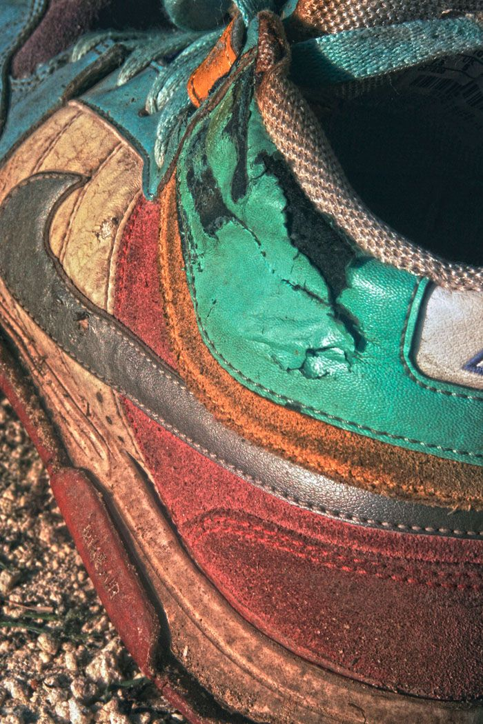 In 2012 I said goodbye to my trusty yet melted Nikes after just 4 years of loving ownership, 2 ski seasons and 3 months on a farm in Australia. #Nike #mid-tops #photography. Image by Lucy Munday