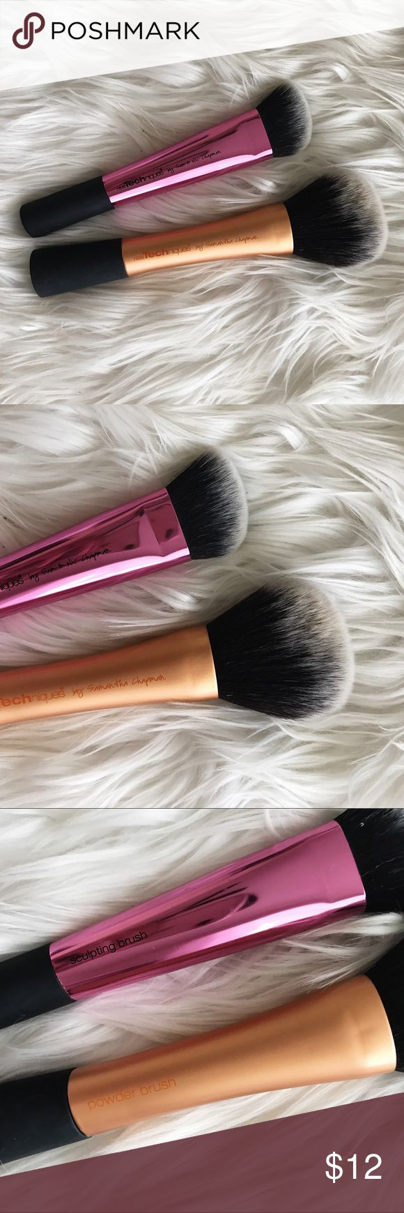 Set of 2 Real Techniques Face Brushes • brand: real techniques  • condition: used only once each  • size: sculpting brush + powder brush   • bundle to save 💰 + accepting reasonable offers • happy shopping! Real Techniques Makeup Brushes & Tools
