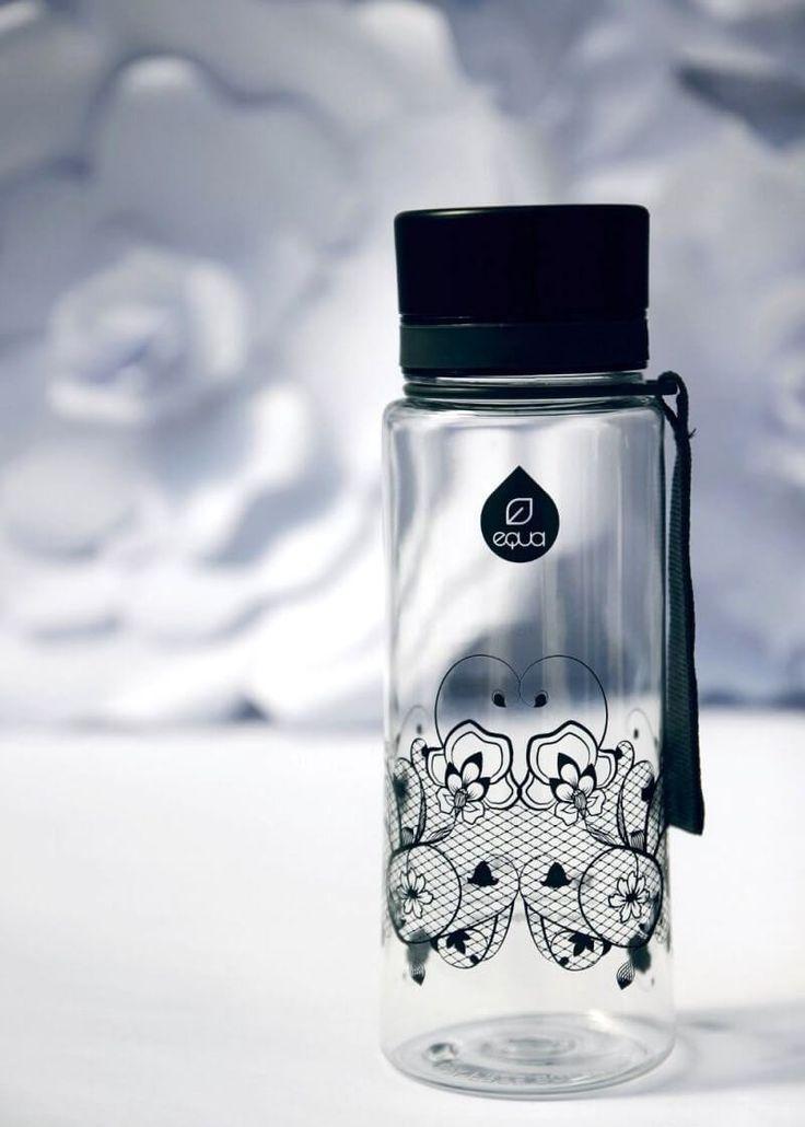 Zdravá fľaša Equa Black Lace 600ml - Equa fľaše 600ml - Tritánové zdravé fľaše - Eko fľaše | SolarBunny.eu