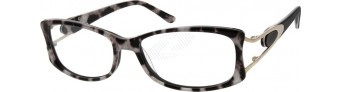 A full-rim acetate frame for women with random patterns. It comes with metal ornament on the temples arms.