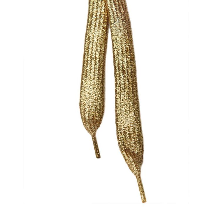 Some glitter for your day! Shiny golden glitter shoelaces!