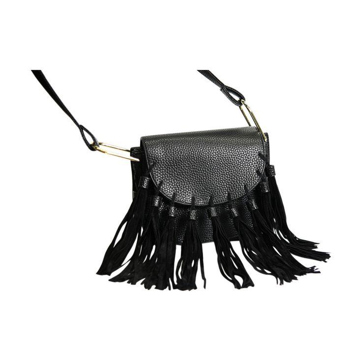 Ashley Blue - Fringe Cross Body Bag - Black