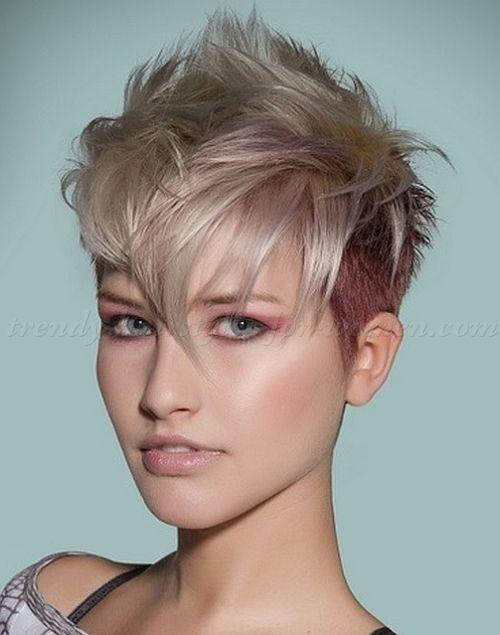 undercut hairstyles for women, undercut faux hawk  Short hair styles