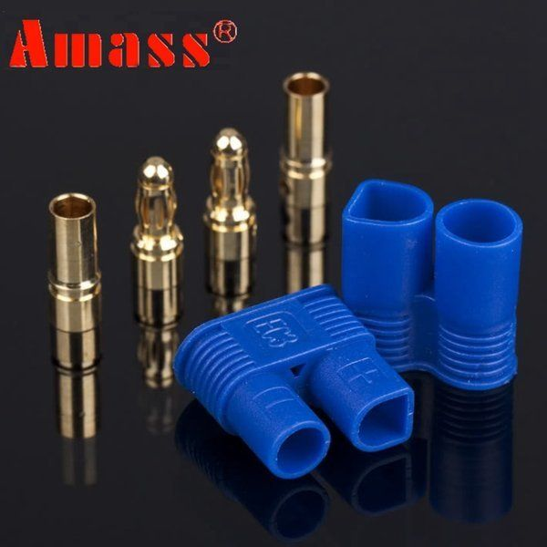 Wmicro 10 Pairs Male /& Female Banana Plug RC EC3 Lipo Battery Bullet Connector Shipped From US