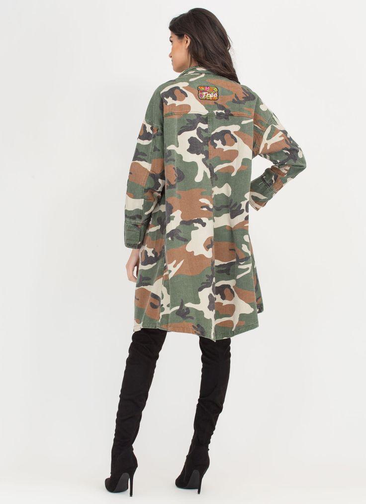 Patch Maker Camo Longline Jacket GoJane.com