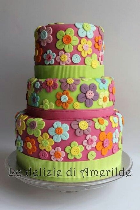 71 best Flowers Cakes images on Pinterest Cake wedding Cake ideas