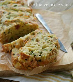 Plumcake salato ricotta zucchine   Cucina veloce e sana