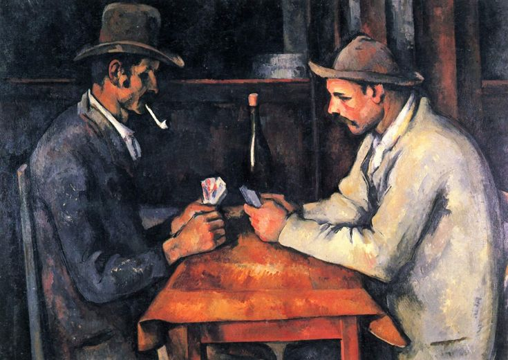 Cezanne, The Card Players, 1894-1895, Musee d'Orsay, Paris.