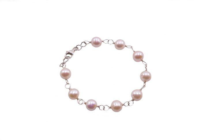Βραχιόλι με μαργαριτάρι - Bracelet with fresh water pearls