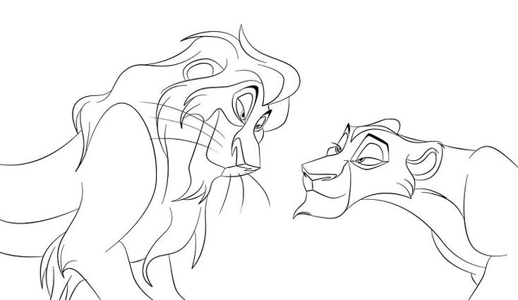 lion king coloring pages kovu | Pokemon coloring pages ...