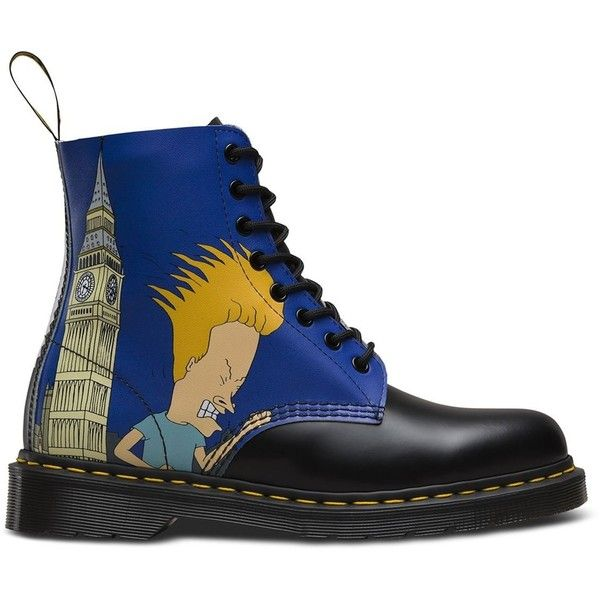 Dr. Martens Men's Pascal 8 Eye Boot (€52) ❤ liked on Polyvore featuring men's fashion, men's shoes, men's boots, mens wide shoes, mens ankle boots, ankle boots mens shoes, mens shoes and mens short boots
