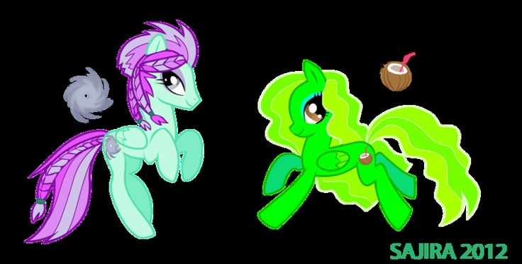 Psyklone and NiuNiu, Ponies, Art, Psyklon