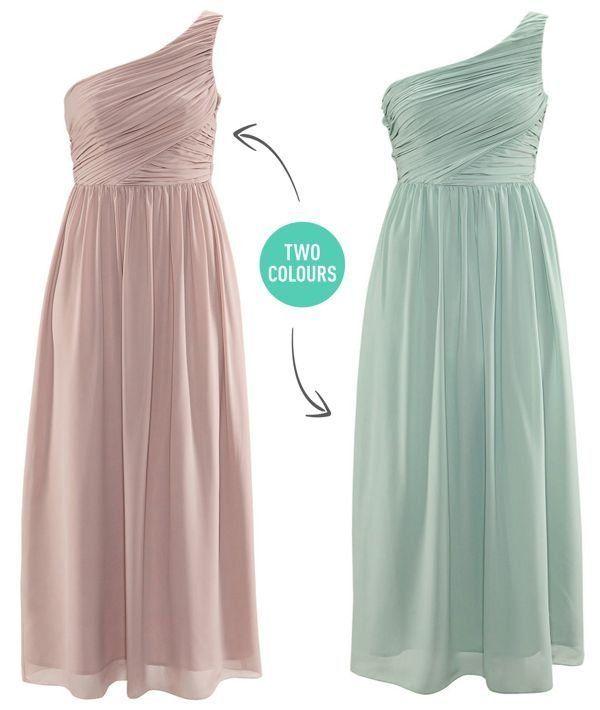 H&M Grecian One Shoulder Dress Conscious Prom Wedding ...