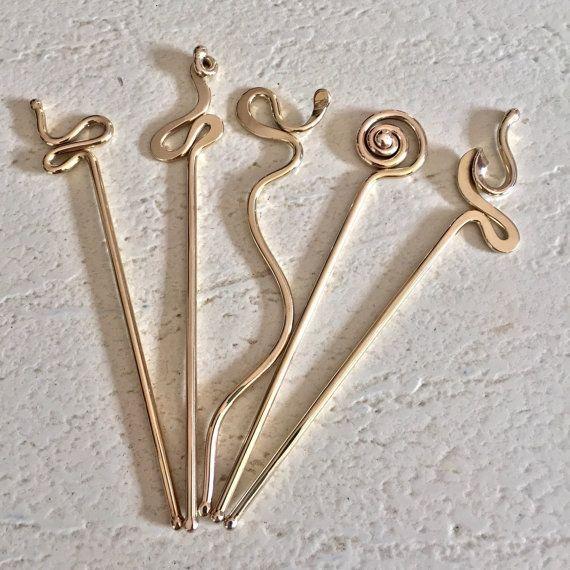 Hair Stick Hand Forged Bronze