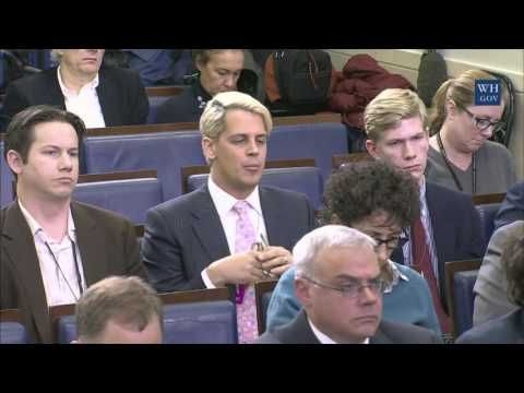 Conservative reporter Milo Yiannopolous appeared Friday at the White House press briefing, asking press secretary Josh Earnest about allegations that social media platforms are censoring political speech.