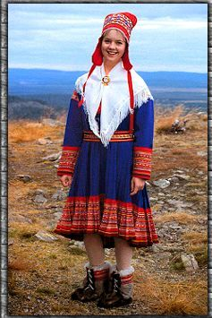 Scandinavia: traditional laplander costume