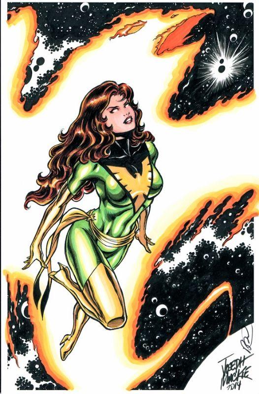 Phoenix (Jean Grey) by Joseph Mackie & Jeff Balke, in YannS's Comics sketches / commissions Comic Art Gallery Room